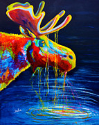 Moose Drool Print by TeshiaArt