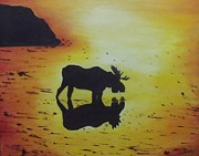 Debra Piro - Moose in the Sunset