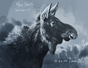 Aaron Blaise - Moose Sketch
