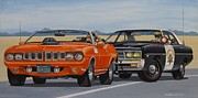 Patrol Car Painting Framed Prints - Mopar Authority Framed Print by Robert VanNieuwenhuyze