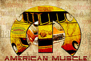 Mopar Digital Art Posters - Mopar Magic Poster by Greg Sharpe