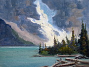 Mohamed Hirji Prints - Moraine Glacier Banff Print by Mohamed Hirji