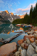 Rocky Mountains Prints - Moraine Lake Print by Bernard Chen