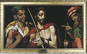 Pontius Pilate Framed Prints - Morales, Luís De 1515-1586. Christ Framed Print by Everett