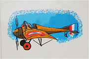 Den Drawings Prints - Morane Saulnier Print by Tim Lutrey