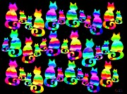 Nick Gustafson Art - More cats cats cats by Nick Gustafson