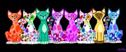 Nick Gustafson - More Colorful Kitties