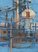 Industrial Pastels Originals - More Hopper by Donald Maier