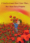 Poppies Field Digital Art - More Love than Poppies by Linda Fehlen