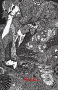 Poe Drawings - Morella  by Harry Clarke