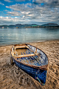 Mountain Valley Digital Art Posters - Morfa Nefyn Boat Poster by Adrian Evans