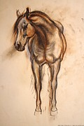 Pottery Pastels - Morgan Mare - Looking Forward by Maureen Love