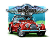 David Kyte - Morgan Plus 4 in Red
