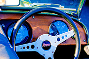 Morgan Metal Prints - Morgan Steering Wheel Metal Print by Jill Reger