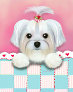 Catia Cho Art - Morkie Shelly by Catia Cho