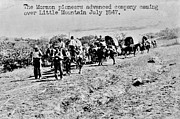 Conestoga Photo Metal Prints - Mormon Pioneers Metal Print by Benjamin Yeager