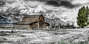 Gtnp Posters - Mormon Row Barn Poster by David Burks