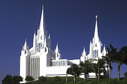 Paul W Faust Framed Prints - Mormon Temple Framed Print by Paul W Faust -  Impressions of Light