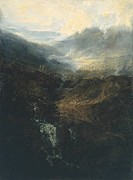 Romanticism Posters - Morning amongst the Coniston Fells Cumberland 1798 Poster by Joseph Mallord William Turner