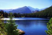 Landscape Photograph Photos - Morning At Bear Lake In Rocky Mtn. Nat. Park by Terril Heilman