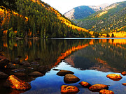 Colors Of Autumn Posters - Morning At Cottonwood Lake Poster by Terril Heilman