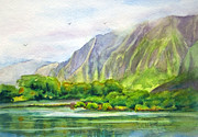 Hawai Originals - Morning at Kahaluu by Candace D Fenander
