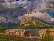 Many Glacier Photos - Morning at Many Glacier Hotel by Rob Wilson