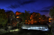 Pigeon Forge Photos - Morning At Old Mill by Greg and Chrystal Mimbs