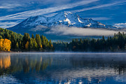 Mount Shasta Photos - Morning at Siskiyou Lake by Greg Nyquist