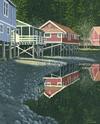 Gary Giacomelli Art - Morning at Telegraph cove by Gary Giacomelli