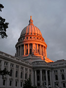 Madison Photos - Morning at the capitol by David Bearden