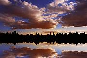 Skylines Metal Prints - Morning at the Reservoir New York City USA Metal Print by Sabine Jacobs