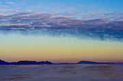 Clouds Photographs Posters - Morning Begins in White Sands Poster by Sandra Bronstein