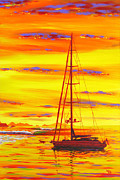 Sunrise. Water Paintings - Morning Bliss by Patrick Parker