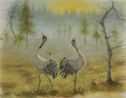 Nature Pastels Metal Prints - Morning call Metal Print by Veikko Suikkanen