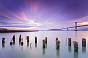 Bay Bridge Art - Morning Calmness - San Francisco bay by David Yu