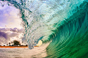 Wave Art Photos - Morning Cylinder  by Gregg  Daniels 