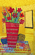 Flower Still Life Prints Tapestries - Textiles Prints - Morning Dreams Print by Susan Rienzo