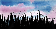 Canadian Geese Mixed Media - Morning Exercises by R Kyllo