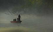 Bass Photos - Morning Fisherman by Everet Regal