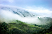 Hills Digital Art - Morning Fog by Ellen Cotton