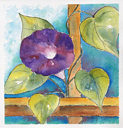 Trellis Paintings - Morning Glory by Pat Katz