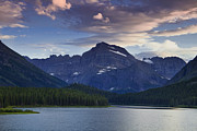 Alpenglow Art - Morning Glow At Glacier Park by Andrew Soundarajan