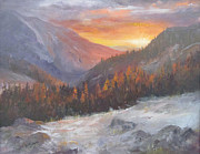 San Juan Paintings - Morning Glow on the San Juans by Bev Finger