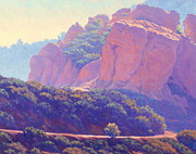 Original Paintings - Morning Hike Cathedral Rock California Landscape Painting by Elena Roche