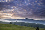 Hyatt Prints - Morning In Cades Cove Print by Andrew Soundarajan