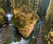 Johnston Posters - Morning in Johnston Canyon Poster by Matt Tilghman
