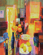 Interior Still Life Painting Metal Prints - Morning in Paris Metal Print by Martin Decent