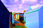 Tombs Digital Art - Morning in the Cemetery by Alys Caviness-Gober
