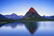 Glacier National Park Prints - Morning in the Mountains Print by Andrew Soundarajan